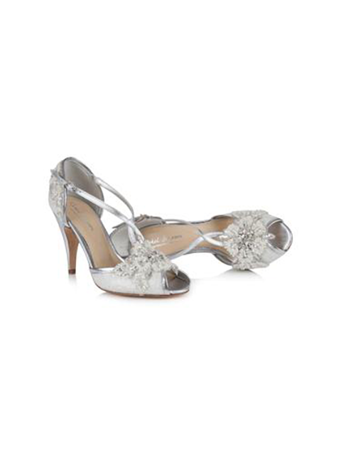 Rachel Simpson Charlotte Wedding Shoe | Silver Moon