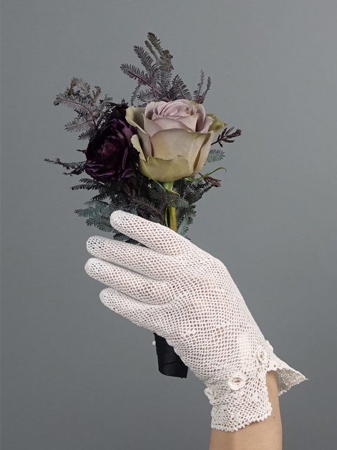 Silver Moon | Vintage Irish Crocheted Gloves