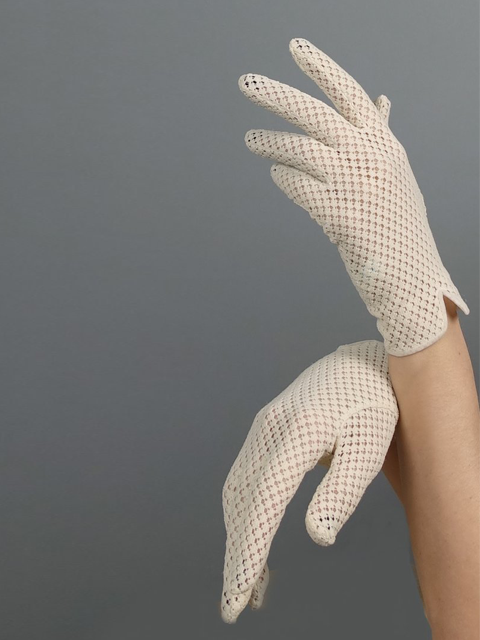 Silver Moon | Vintage Ivory Gloves