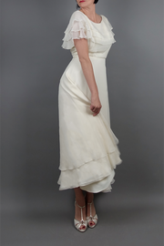 Vintage Chiffon Tea Dress | Little White Dresses | Silver Moon | Front