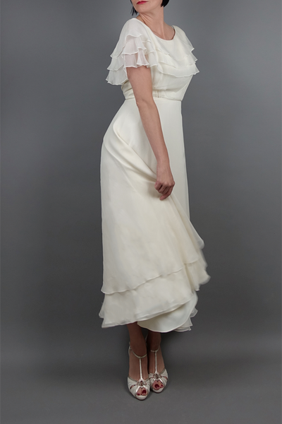 Vintage Chiffon Tea Dress