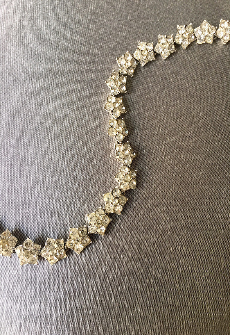 Vintage Crystal Star Necklace