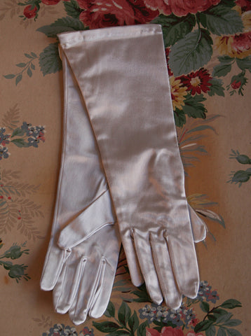 Vintage Satin Gloves