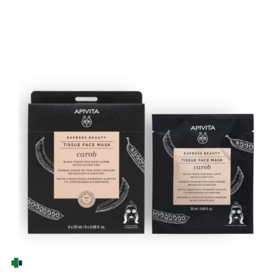 APIVITA TISSSUE FACE MASK CAROB