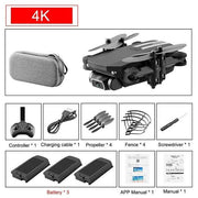Drone 4k HD wide angle camera-Drone with camera - Best Drone with camera-DroneDirectShop-4K Black - 3 Batteries-Drone Direct Shop