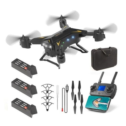 Remote Control RC quadcopter With HD Camera-Drone-DroneDirectShop-black 3 batteries-Drone Direct Shop