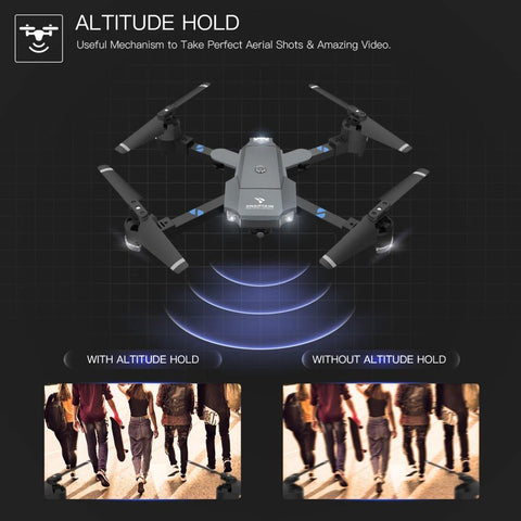 SNAPTAIN AA5MQ 1080P Drone WIFI FPV With Wide Angle HD Camera Hight Hold Mode Foldable Arm RC Quadcopter Drone Dron-Drone Direct Shop-Drone Direct Shop