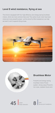FEMA F8 GPS Drone 4K Professional with Dual Camera 5Km Long Distance Brushless 30mins 5G WiFi FPV Foldable Quadcopter Dron PK SG906-Drone Direct Shop-Drone Direct Shop