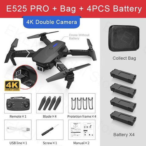 FEMA PRO RC Quadcopter Professional Obstacle Avoidance Drone 4K With Backpack-Drone with camera - Best Drone with camera-DroneDirectShop-Dual Camera-4K-Bag-4B-Drone Direct Shop