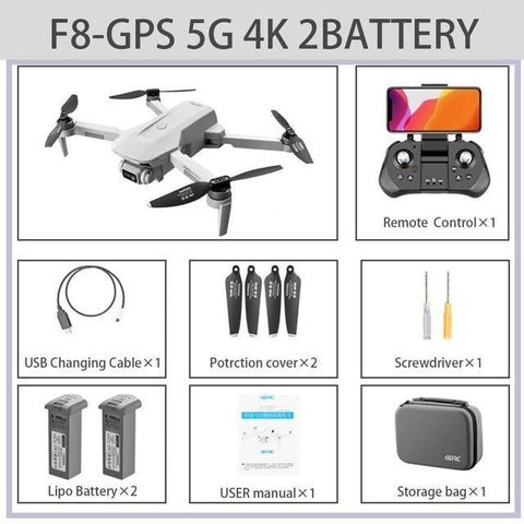FEMA F8 GPS Drone 4K Professional with Dual Camera 5Km Long Distance Brushless 30mins 5G WiFi FPV Foldable Quadcopter Dron PK SG906-Drone Direct Shop-4K-5G-GPS 2B Bag-China-Drone Direct Shop