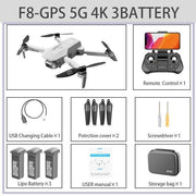 FEMA F8 GPS Drone 4K Professional with Dual Camera 5Km Long Distance Brushless 30mins 5G WiFi FPV Foldable Quadcopter Dron PK SG906-Drone Direct Shop-4K-5G-GPS 3B Bag-China-Drone Direct Shop