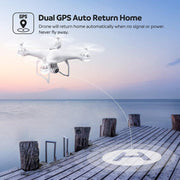 Potensic T25 Drone with 2K Camera for Adults, RC FPV GPS Drone with WiFi Live Video, Auto Return Home, Altitude Hold, Follow Me, Custom Flight Path, 2 Drone Batteries and Carrying Case-Drone Direct Shop-Drone Direct Shop