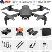 4DRC V4 Drone with 1080P HD Camera for Adults and Kids, Foldable Quadcopter with Wide Angle FPV Live Video, Trajectory Flight, App Control,Optical Flow, Altitude Hold Altitude Hold Durable RC Quadcopter-Drone Direct Shop-1080P-Dual camera-3B-Drone Direct Shop
