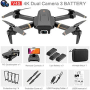 4DRC V4 Drone with 1080P HD Camera for Adults and Kids, Foldable Quadcopter with Wide Angle FPV Live Video, Trajectory Flight, App Control,Optical Flow, Altitude Hold Altitude Hold Durable RC Quadcopter-Drone Direct Shop-4K-Dual camera-3B-Drone Direct Shop
