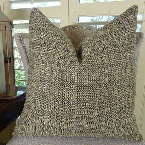 Brown Luxury Sofa Pillow Solid Decorative Pillow 11258