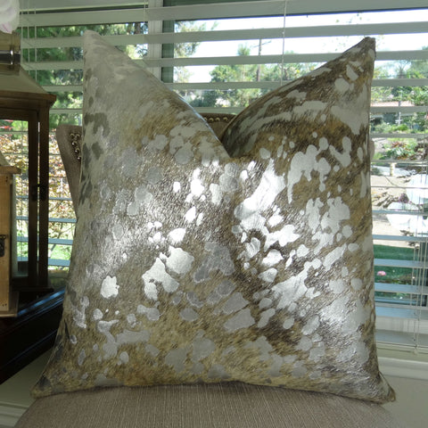 Devore Light Brindle Tan with Silver Small Pattern
