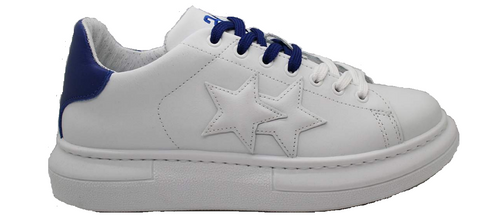 2Star 2SU2701 White-Blue Men's Sneaker Made In Italy