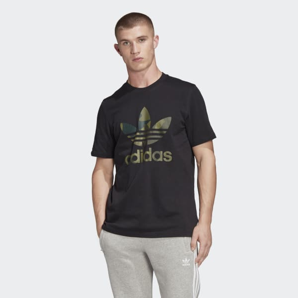 Adidas Originals FM3338 Camou Trefoil T-Shirt BLACK