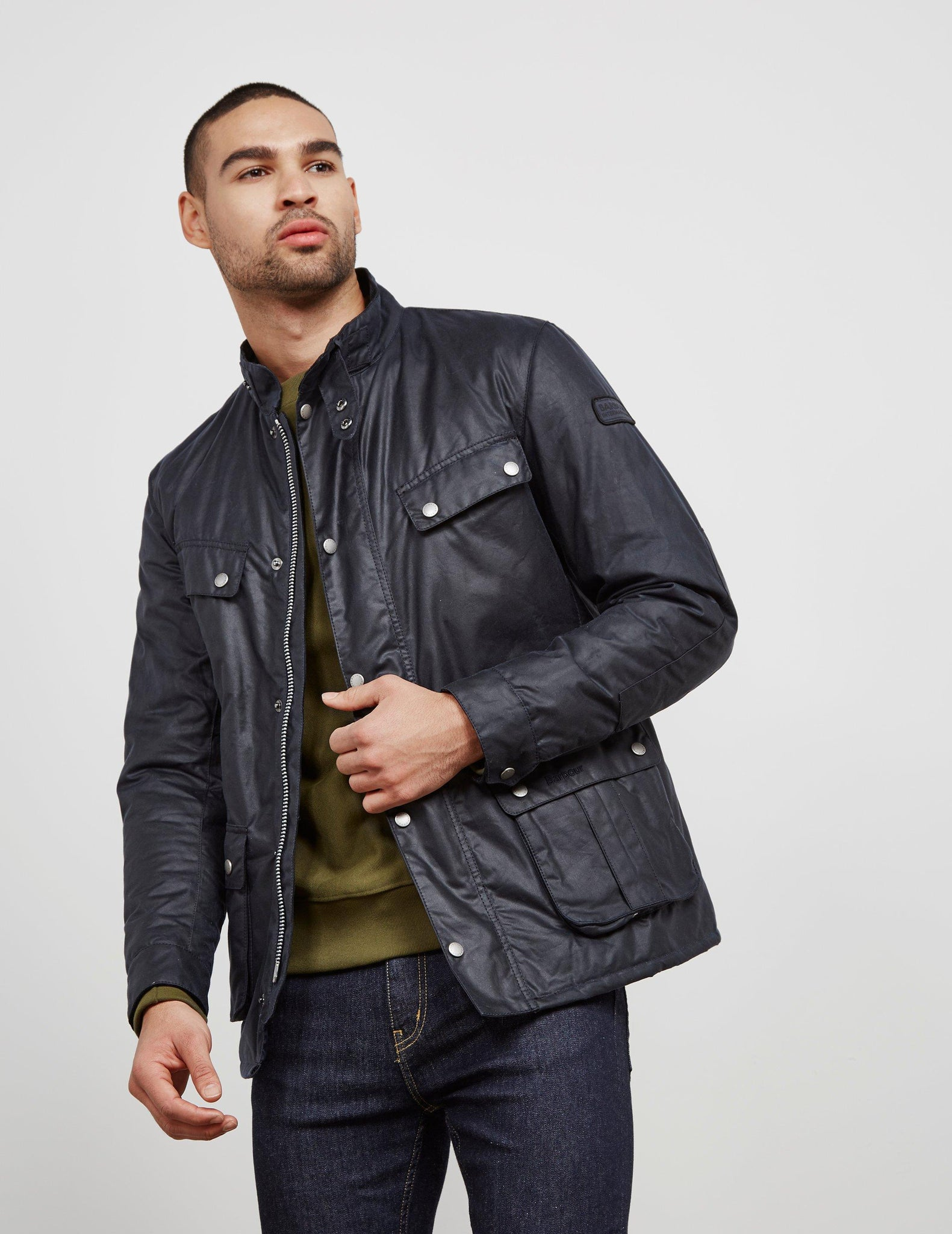 BARBOUR BACPS1677-MWX Navy Blue International Duke Winter Jacket