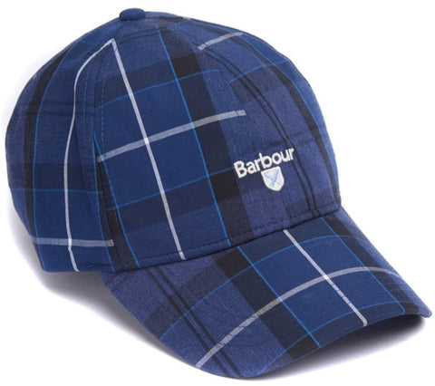Barbour MHA0617-NY71 Sports Tartan Cap Berretto Cotton INK Tartan Blue