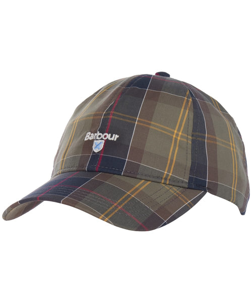 Barbour MHA0617-TN11 Sports Tartan Cap Berretto Cotton Classic Tartan Green