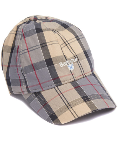 Barbour MHA0617-TN31 Sports Tartan Cap Berretto Cotton Classic Dress Tartan