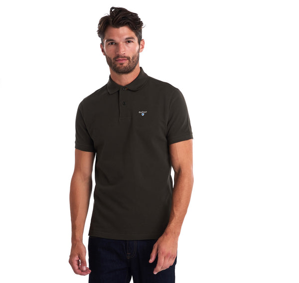 Barbour MML0012-GN94 Tartan Pique Polo SS FOREST Green