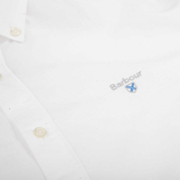 Barbour MSH4483-WH11 Oxford Button Down Shirt WHITE