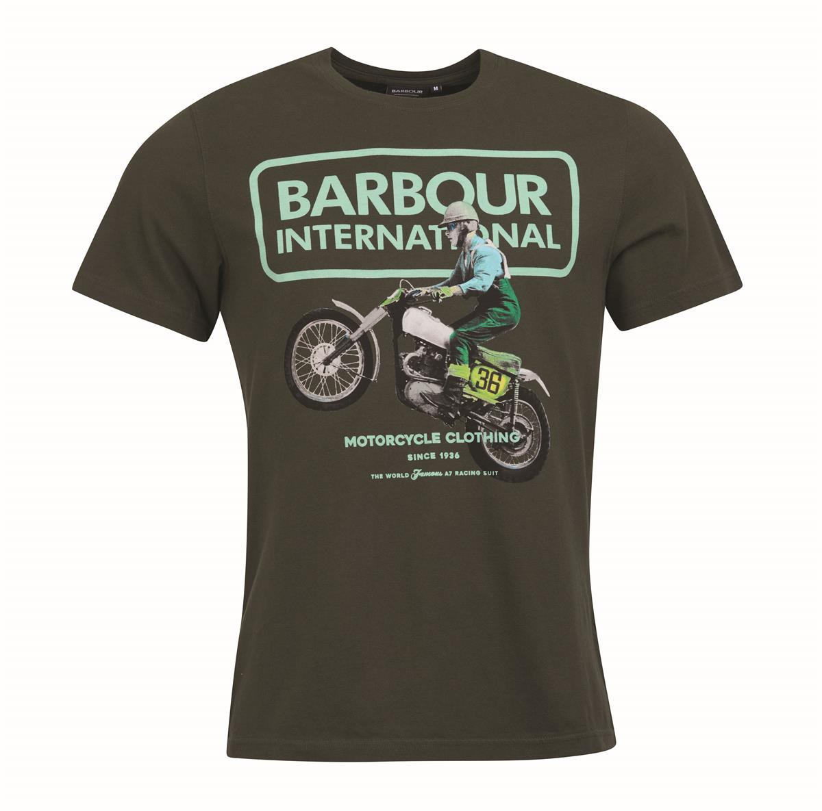 Barbour Batee0447-GN43 Archive Comp SS T-shirt Military Green