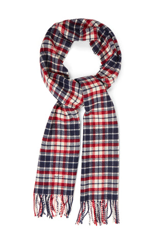 GANT 9920135-617 Checked Twill Wool Scarf Multicolor