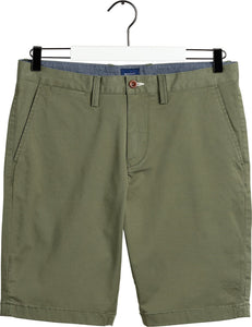 Gant 20007-372 Relaxed Twill Cotton Shorts Dark Leaf Green