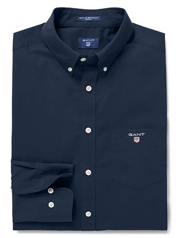 Gant 3046400-410 Regular Broadcloth Button Down Shirt NAVY Blue