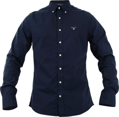 Gant 3046400-410 Slim Broadcloth Button Down Shirt NAVY Blue