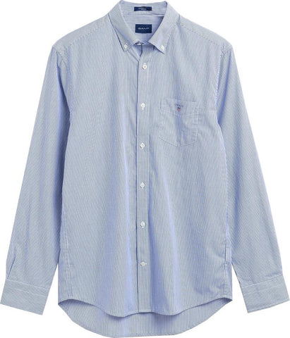 GANT 3063000-436 Regular Broadcloth Banker Button Down Shirt College Blue