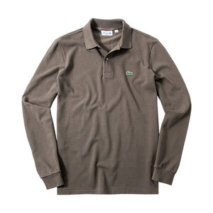 Lacoste L1312-ZBC Pique 'Polo Long Sleeve Mud