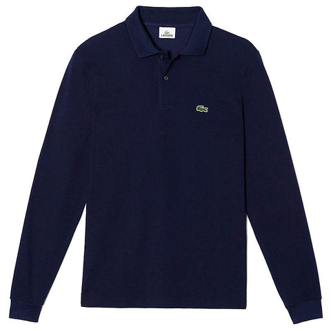 Lacoste L1312-166 Polo Pique' Manica Lunga BLU navy