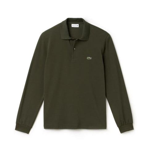 Lacoste L1312-W14 Polo Pique' Manica Lunga MILITARY Green
