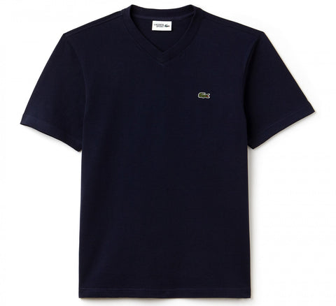 Lacoste TH7419-166 T-Shirt Short Sleeve V Sport Cotton BLUE navy