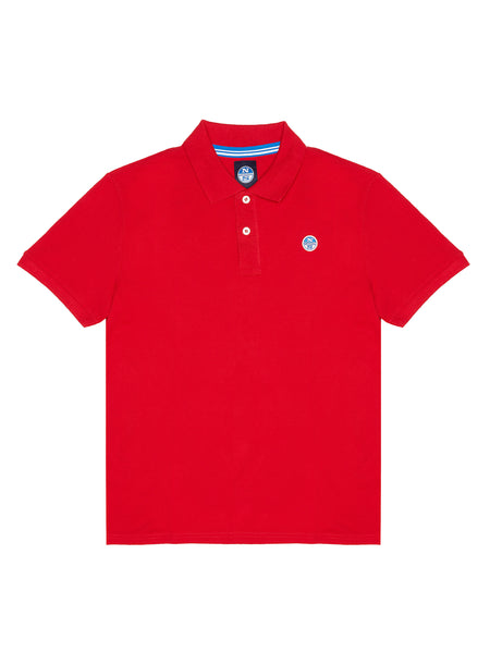 North Sails 692240-230 Cotton Pique' Polo SS RED