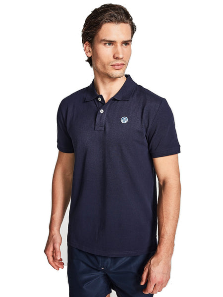 North Sails 692240-802 Cotton Pique' Polo Manica Corta BLU Navy