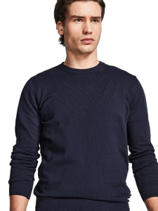 North Sails 698492-802 Pullover Girocollo Light Cotton BLU Navy