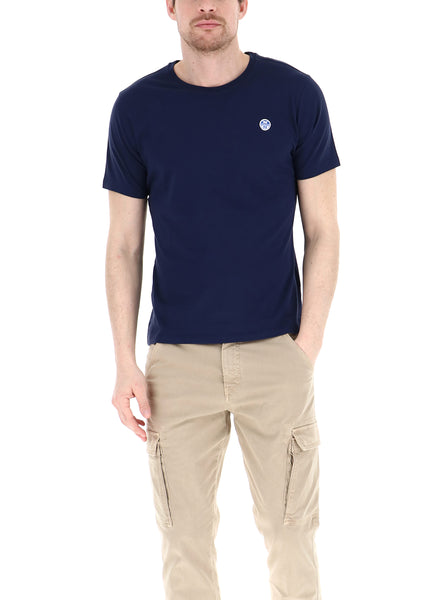 North Sails 692530-0802 Logo T-Shirt Unito Girocollo BLU Navy