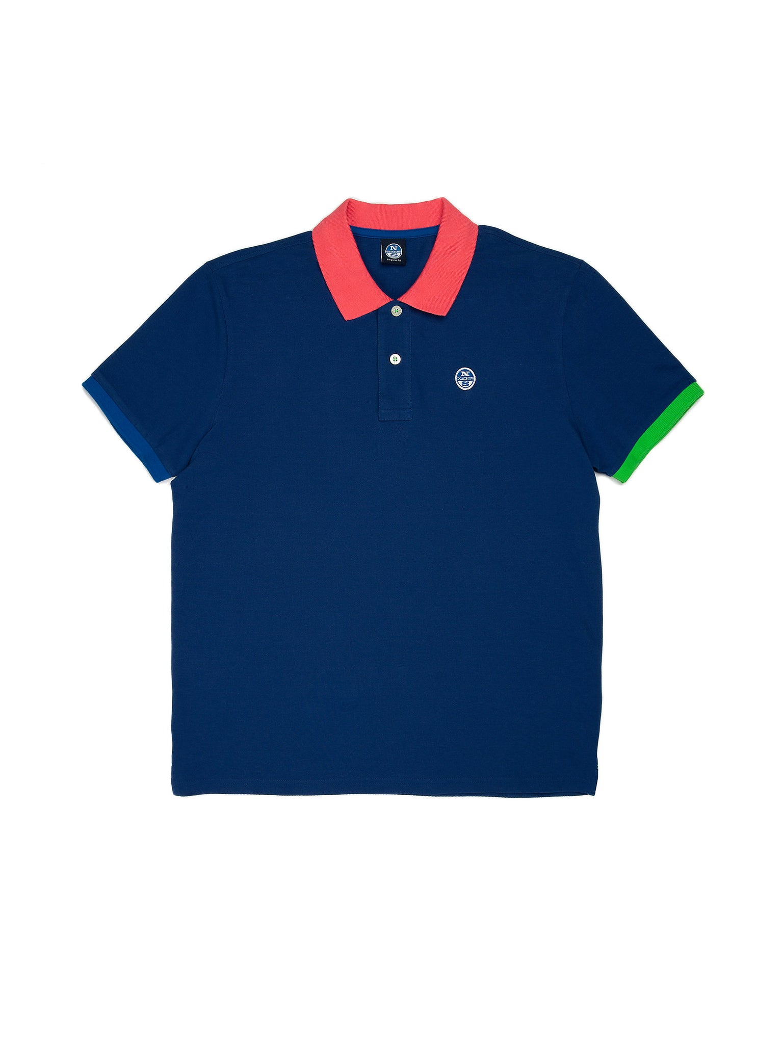 North Sails 692245-790 Contrast Pique' Polo SS ROYAL Blue