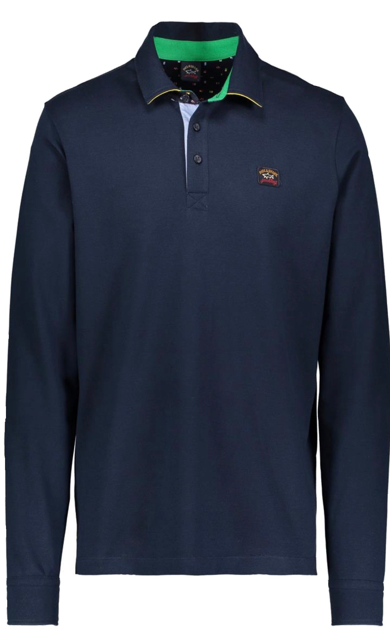 Paul & Shark P20P1631-013 Polo Contrast Long Sleeve BLUE navy