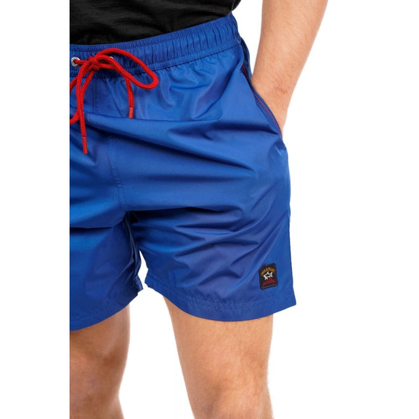 Paul & Shark COP5001-342 Iconic Badge Short Boxer Mare Uomo Beach-Wear Cobalt Blue