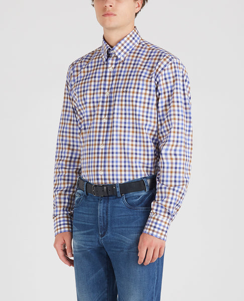 Paul & Shark I20P3007-200 Checked Button Down Shirt