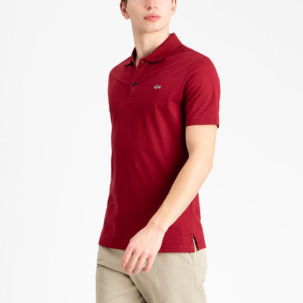 Paul & Shark COP1013-142 Polo Manica Corta Piquet Cotone BORDEAUX