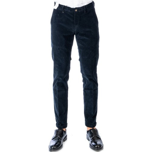 Re-Hash P249-4080 Mucha Pantalone Velluto 1000 righe Stretch Uomo BLU NAVY