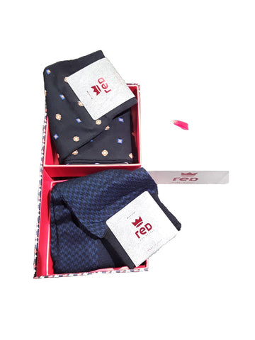 Red Sox Appeal 64824G2-902R4 2Pack Calze Lunghe Uomo Fantasia Blu