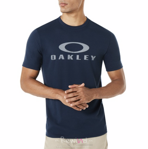 OAKLEY 457130-6AC Logo T-Shirt O Bark NAVY Blue